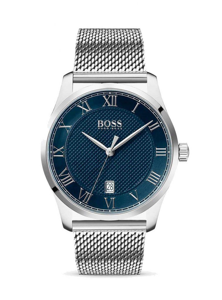 HUGO BOSS 1513737 Men's Master Date Mesh Bracelet Strap Watch