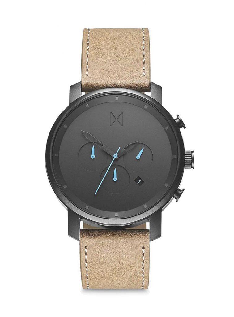 MVMT Men's Chronograph Date Leather Strap Watch 2