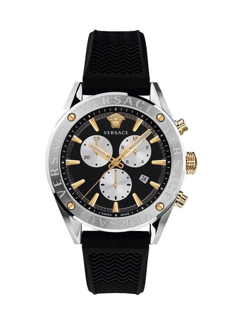Versace Gents V-Chrono black dial watch