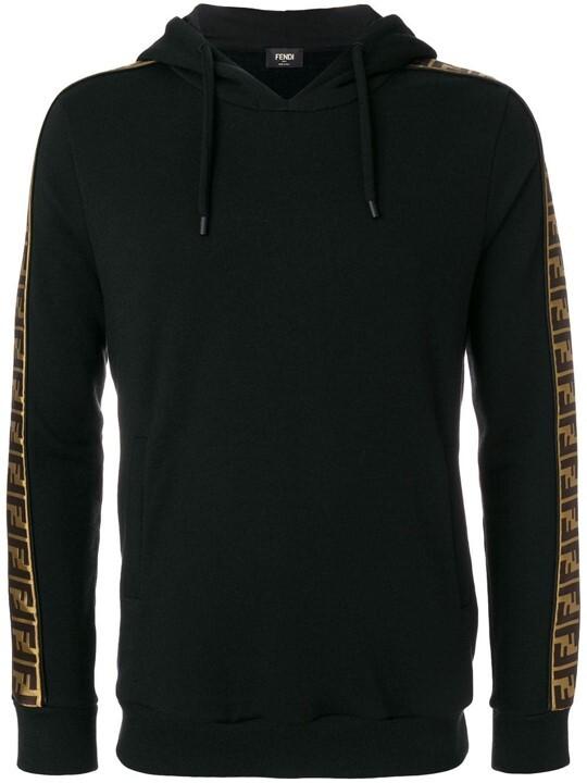 Fendi logo panel hoodie