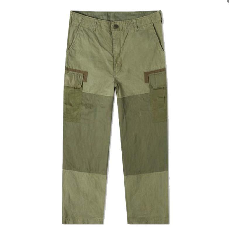 Comme Des Garcons Homme Garment Dyed Multi Fabric Cargo Pants, £395