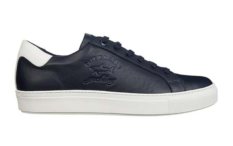 Paul & Shark Balena Corp Trainers Navy Blue. Was £180. Now £144