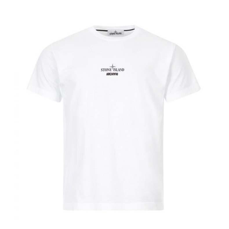 Stone Island T-shirt Archivio in White, £155