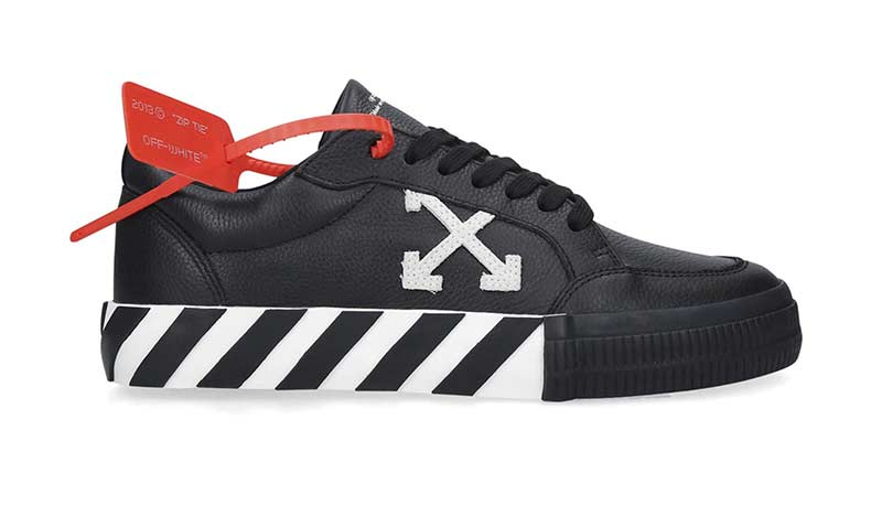 Off-White Leather Low-Top Sneakers. Was £280. Now £192.36