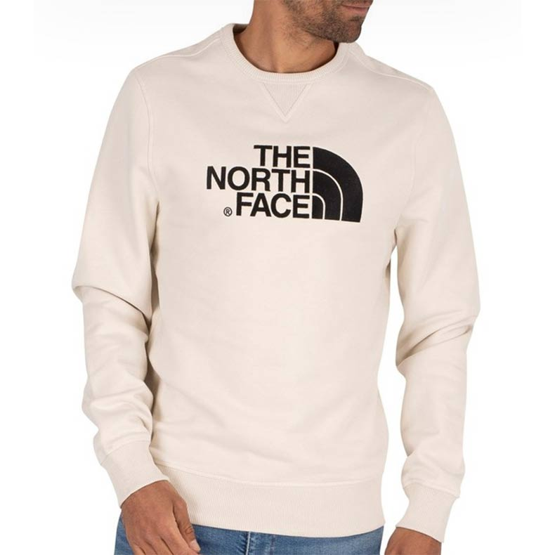The North Face Drew Peak Vintage Sweatshirt in White/Black, reduced from £54.95 to £46.95