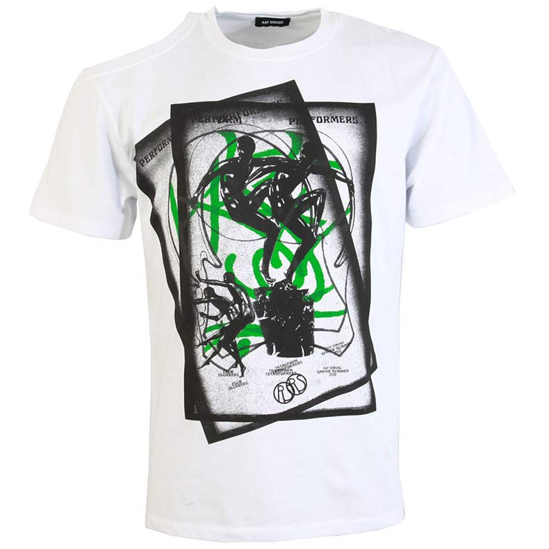 White and Green T shirt