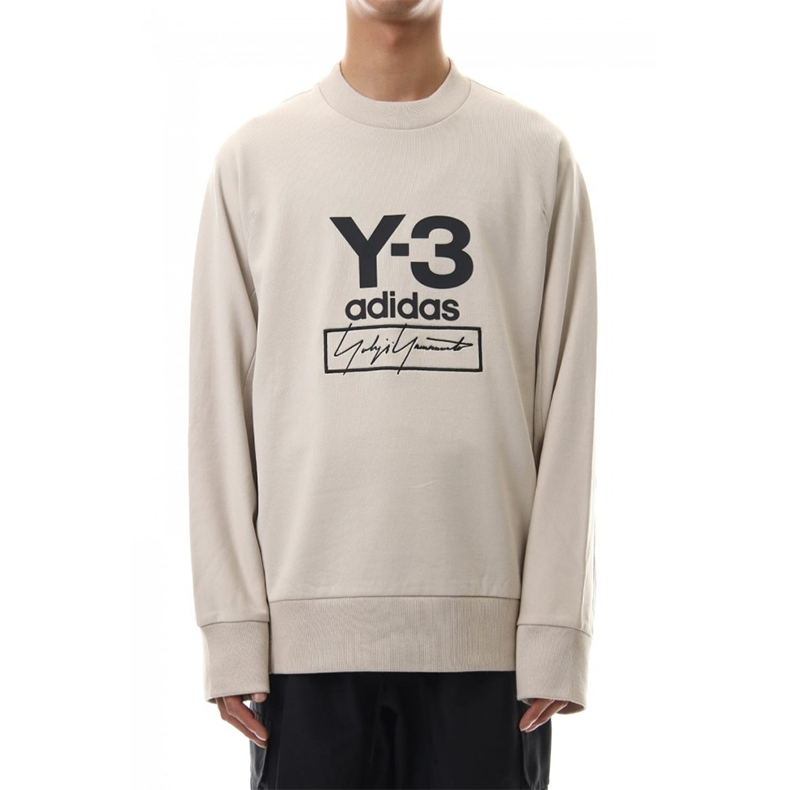 Y-3 Men's Stacked Logo Crew Sweatshirt, reduced from £194.99 to £104.99