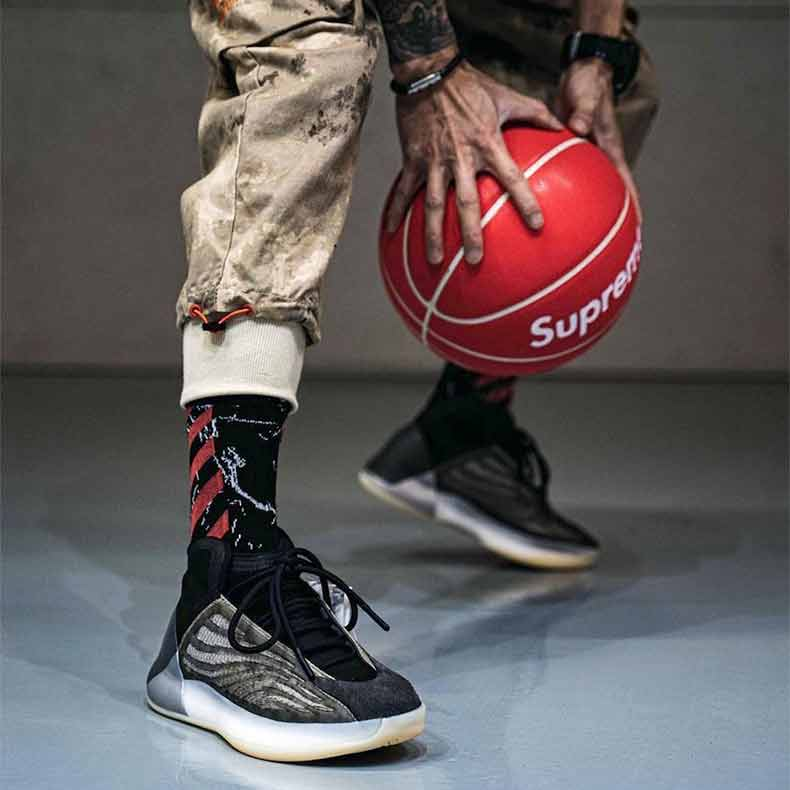 Yeezy Playing Basketball