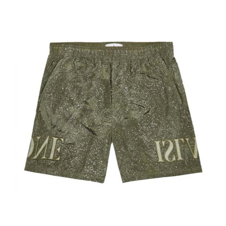 Stone Island Swim Shorts in Olive, £235