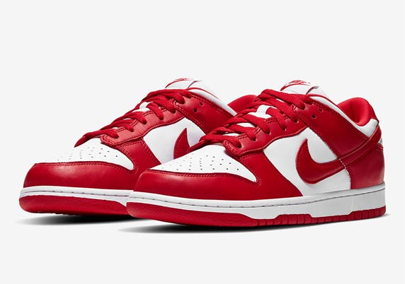 Red and White Nike Trainers