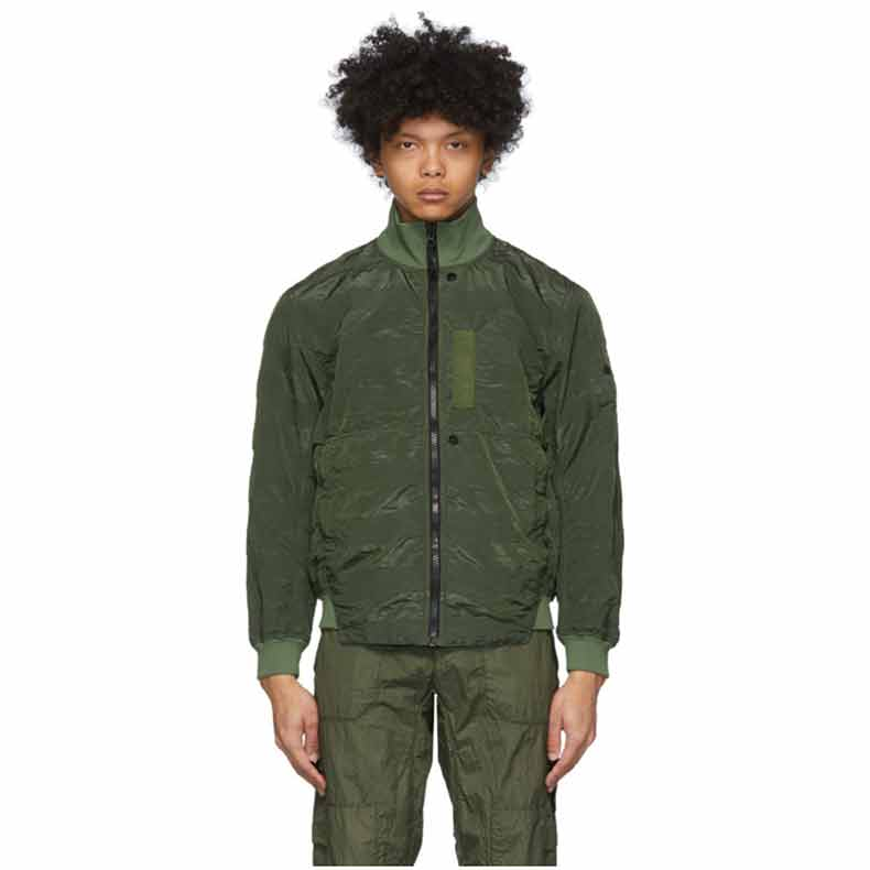 Stone Island Shadow Project Khaki Nylon Bomber Jacket. Was £675. Now £493