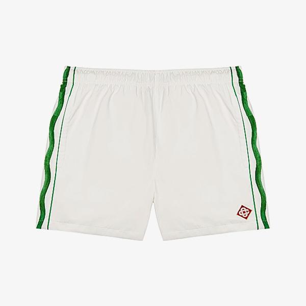 Casablanca Pacifique Striped Shell Shorts