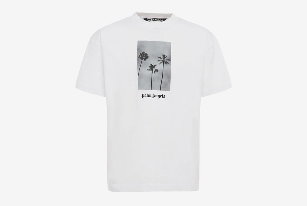 PALM ANGELS Boulevard Cotton Jersey T-Shirt