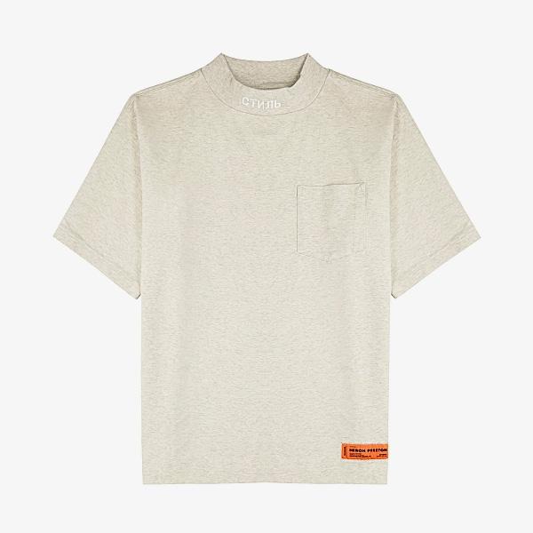 Heron Preston CTNMB Light Grey Cotton T-shi