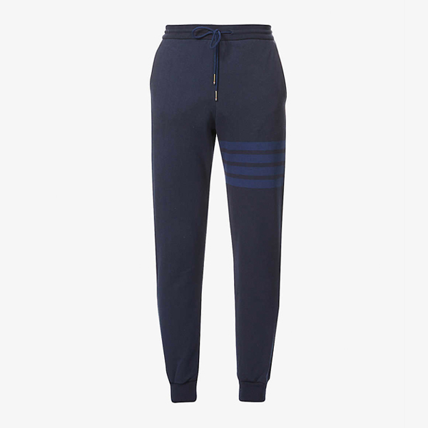 Thom Browne Striped Cotton Jersey Jogging Bottoms