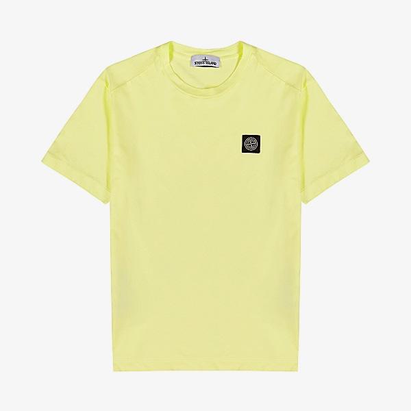 Stone Island Yellow Cotton T-shirt
