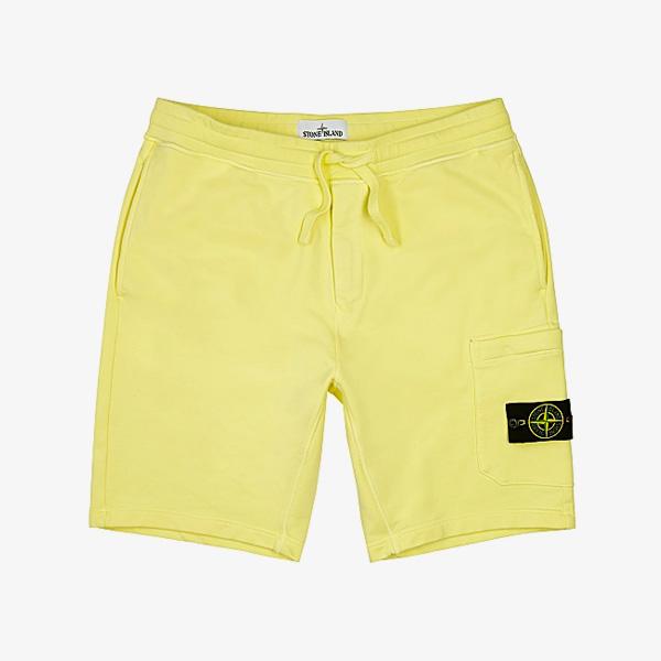 Stone Island Yellow Cotton Shorts