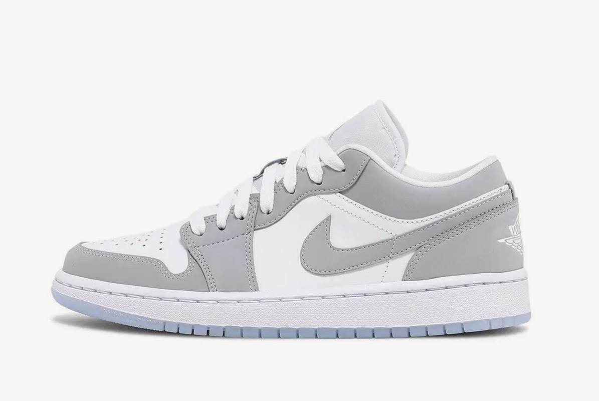 Air Jordan 1 Low White Wolf Grey