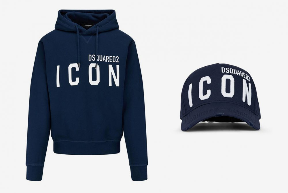DSQUARED Cotton Icon Hoodie and Baseball Cap