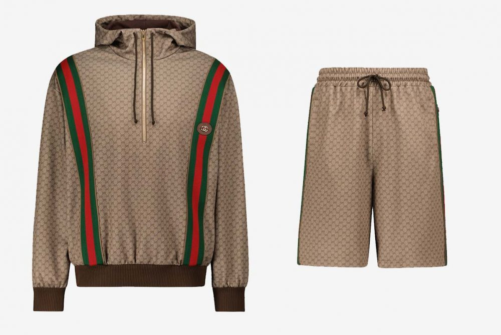 GUCCI Mini GG jersey hooded sweatshirt and shorts