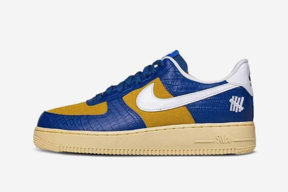UNDEFEATED x Nike Air Force 1 Low Blue Croc