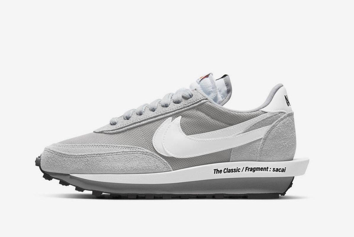 Fragment x Sacai x Nike LDWaffle Grey White