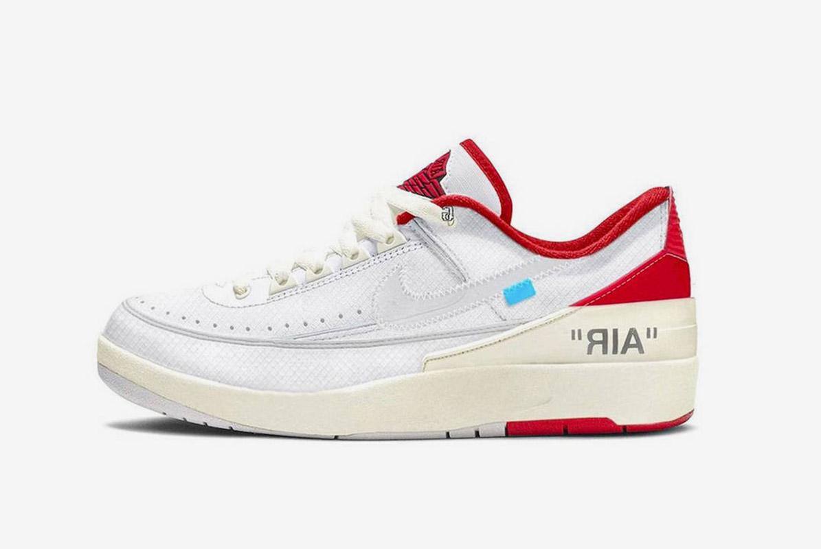 Off-White x Air Jordan 2 Low White Red